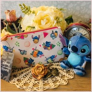 🆕 Loungefly Stitch and Scrump Cosmetic Pouch Bag
